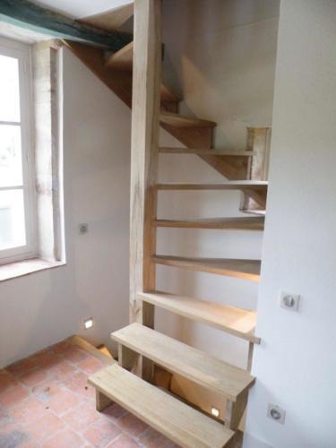 Escalier en chêne brossé